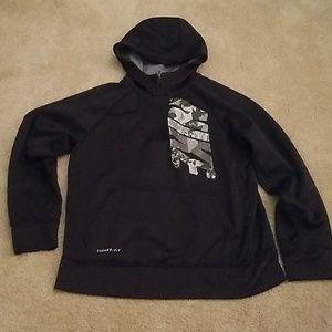 Nike black hoodie kids large